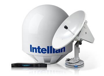 Intellian t110 — 3-осевая стабилизированнаяморская телевизионная антенна